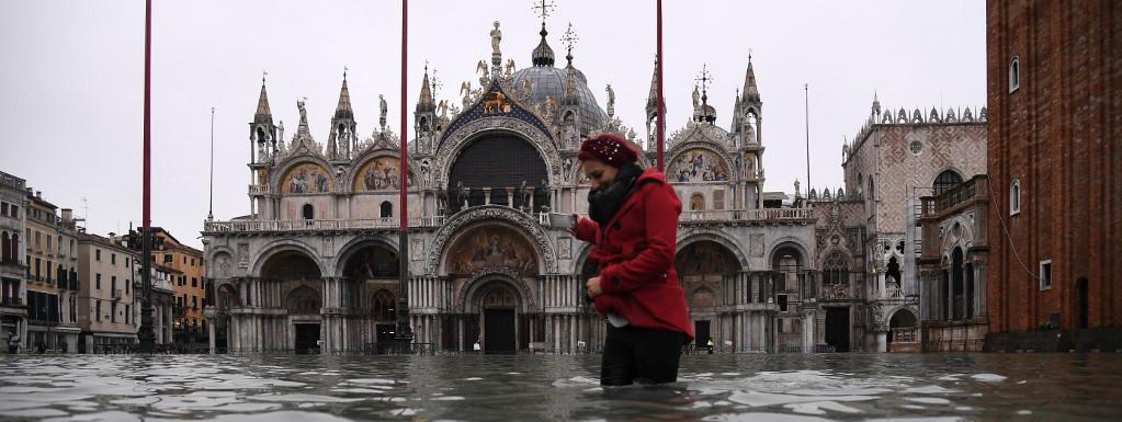 La basilique Saint-Marc sous les eaux à Venise, le 22 novembre 2019.