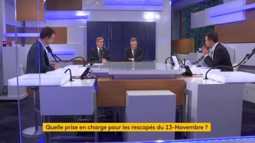 """13-Novembre, la France particulièrement ciblée, la prise en charge des victimes ... le """"8h30 franceinfo"""" sur les attentats islamistes"""