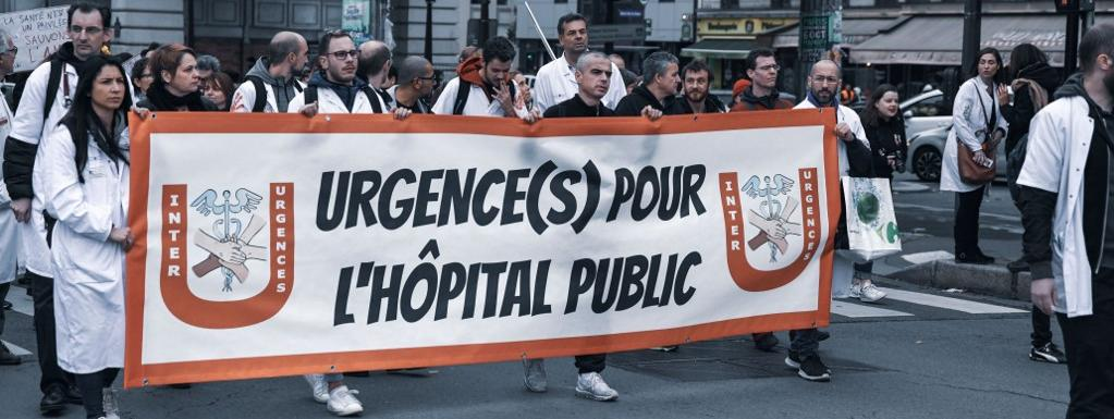 Une manifestation du collectif Inter-urgences, le 29 octobre 2019 à Paris.