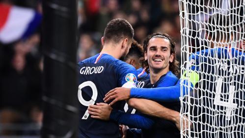 Foot : déjà qualifiés pour l'Euro 2020, les Bleus battent la Moldavie (2-1) et passent premiers du groupe