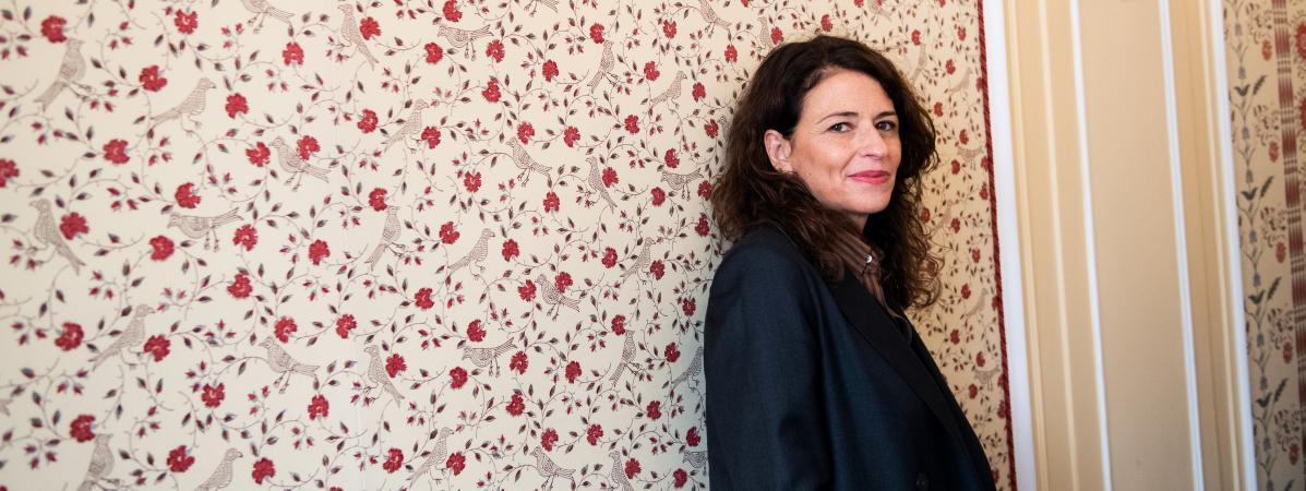 La romancière Karine Tuil le 13 novembre 2019 à Paris.