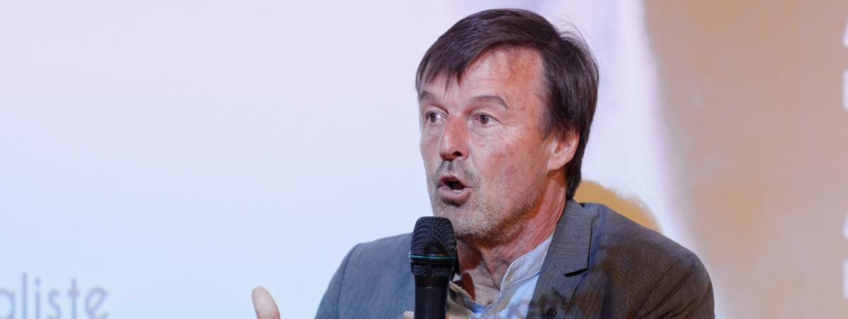 L\'ancien ministre de la Transition écologique et solidaire, Nicolas Hulot, le 25 avril 2019 à Paris.