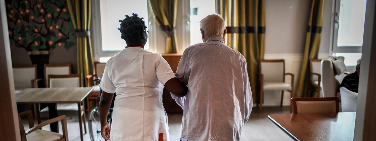 Un établissement d'hébergement pour personnes âgées dépendantes, à Paris, le 5 juillet 2018.