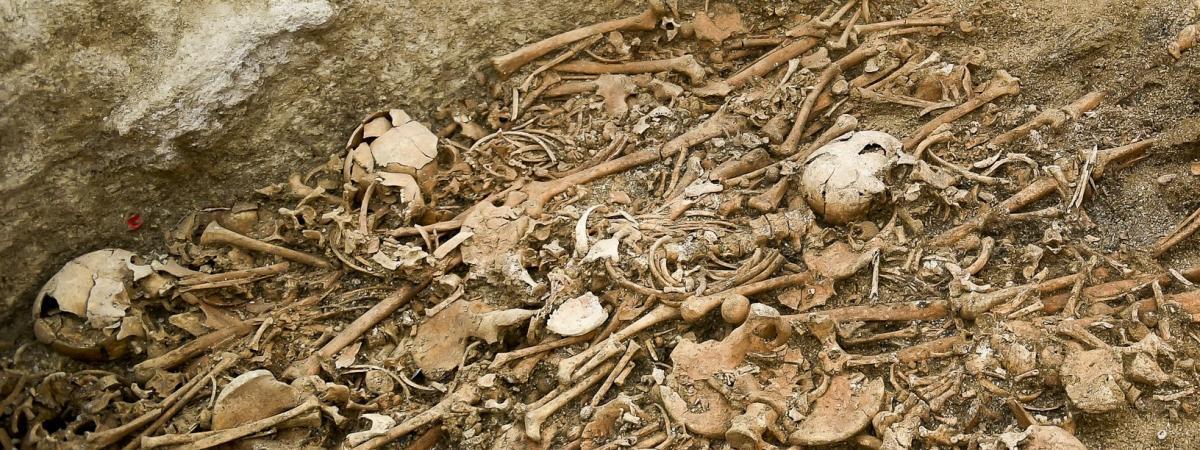 Une tombe collective du néolithique à Saint-Memmie, dans la Marne (15 novembre 2019)