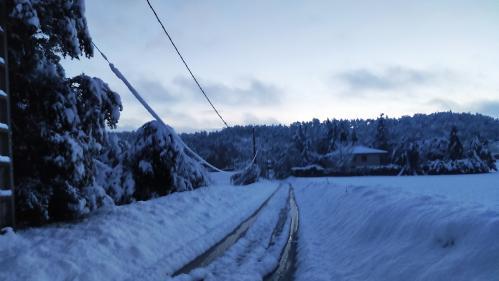 """""""Je n'ai jamais eu aussi froid dans ma maison"""" : dans la Drôme, certains villages toujours sans électricité après les chutes de neige"""