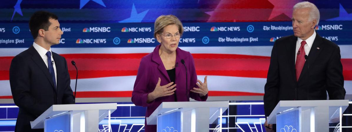 Présidentielle américaine : unis contre Donald Trump, les candidats démocrates exposent leurs divisions lor...