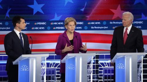 Présidentielle américaine : unis contre Donald Trump, les candidats démocrates exposent leurs divisions lors d'un nouveau débat