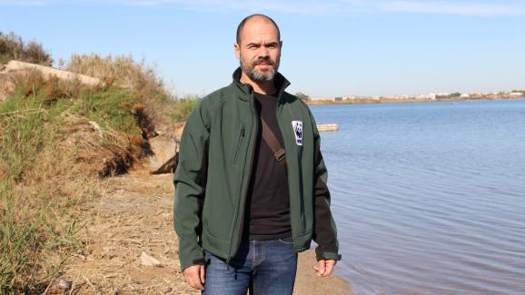 Oscar Esparza Alaminos, près de la Mar Menor, en Espagne, le 26 novembre 2019.