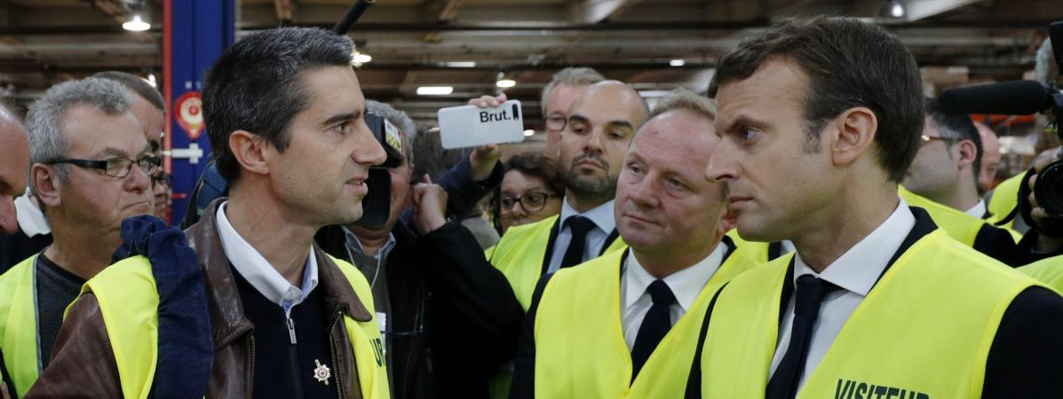 """François Ruffin et Emmanuel Macron ont-ils """"utilisé les ouvriers"""" d'Ecopla, comme les en accuse Juan Branco ?"""
