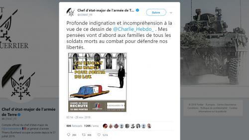 """Militaires morts au Mali : des caricatures de """"Charlie Hebdo"""" suscitent la """"profonde indignation"""" de l'armée"""