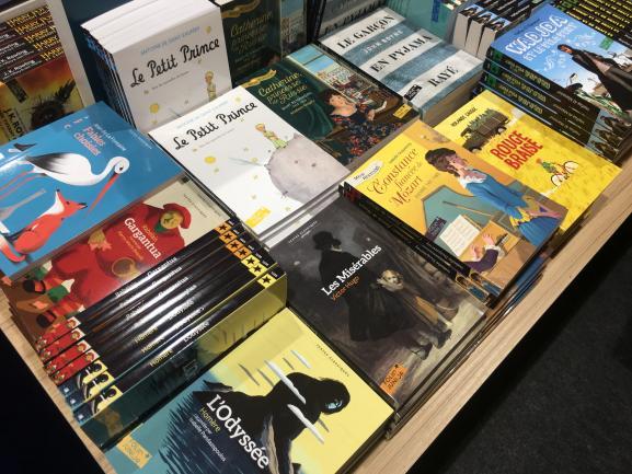 Les classiques sur le stand Gallimard Jeunesse, Salon du livre jeunesse de Montreuil, novembre 2019