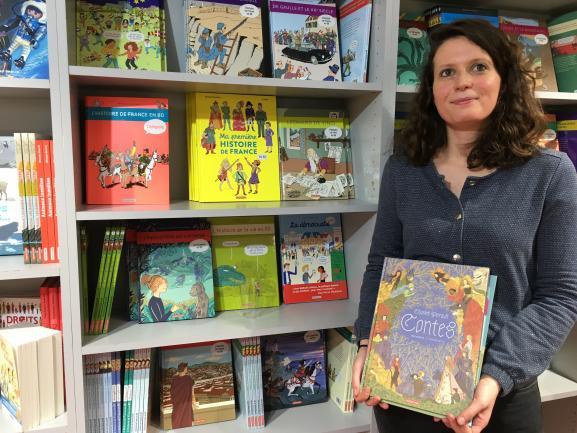 Marine Tasso, éditrice chargée des documentaires, de la BD, et de la jeunesse chez Casterman