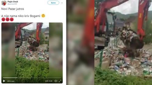 Non, cette vidéo d'une pelleteuse qui déplace des déchets plastiques n'a rien à voir avec les inondations en France