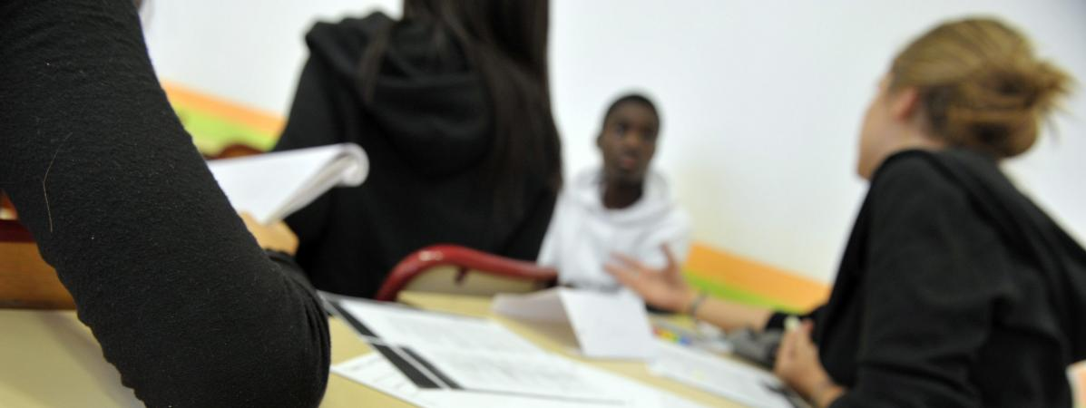 Des lycées français en classe (photo d\'illustration).