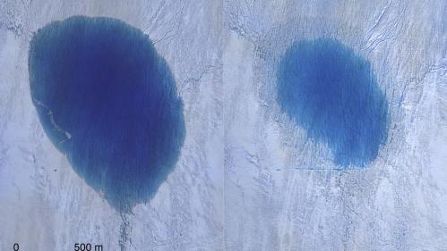 VIDEO. Groenland : des chercheurs filment un lac en train de se vider dans une crevasse en quelques heures   https://www.francetvinfo.fr/meteo/climat/video-groenland-des-chercheurs-filment-un-lac-en-train-de-se-vider-dans-une-crevasse-en-quelques-heures_3