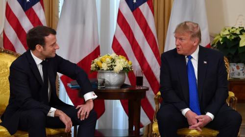 """VIDEO. """"C'est la meilleure non-réponse que j'aie jamais entendue"""" : Donald Trump se moque d'Emmanuel Macron en ouverture du sommet de l'Otan"""