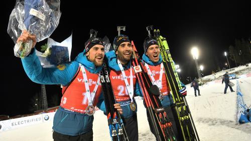 Coupe du monde de biathlon : Martin Fourcade porte les Bleus vers un quadruplé historique