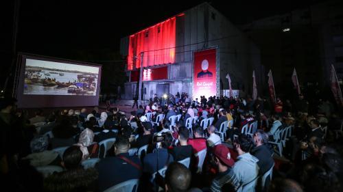 """Festival """"Tapis Rouge"""" de Gaza : faute de cinéma, les projections ont lieu dans la rue"""