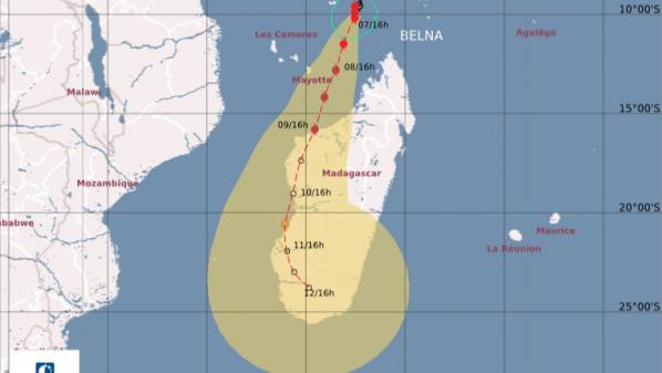 Mayotte : le cyclone Belna approche, le département placé en alerte orange