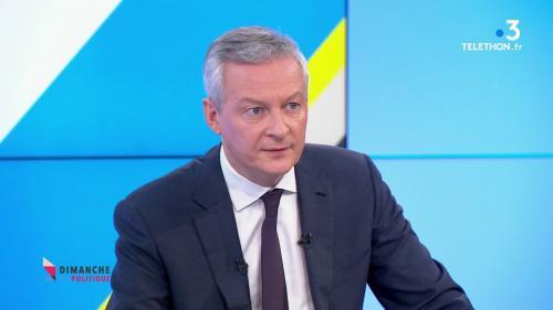 """VIDEO. Grève du 8 décembre : """"La CGT défend ses troupes plus que les Français"""", estime Bruno Le Maire, dans """"Dimanche en politique"""""""