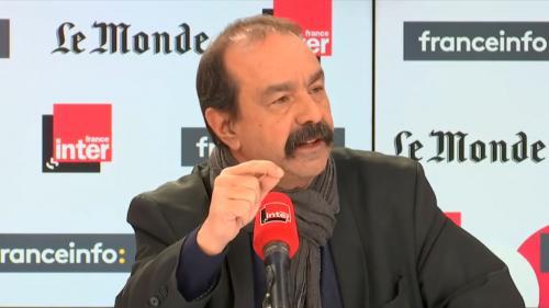 """VIDEO. Réforme des retraites: """"C'est le gouvernement qui choisit la confrontation et l'affrontement"""", déclare PhilippeMartinez"""