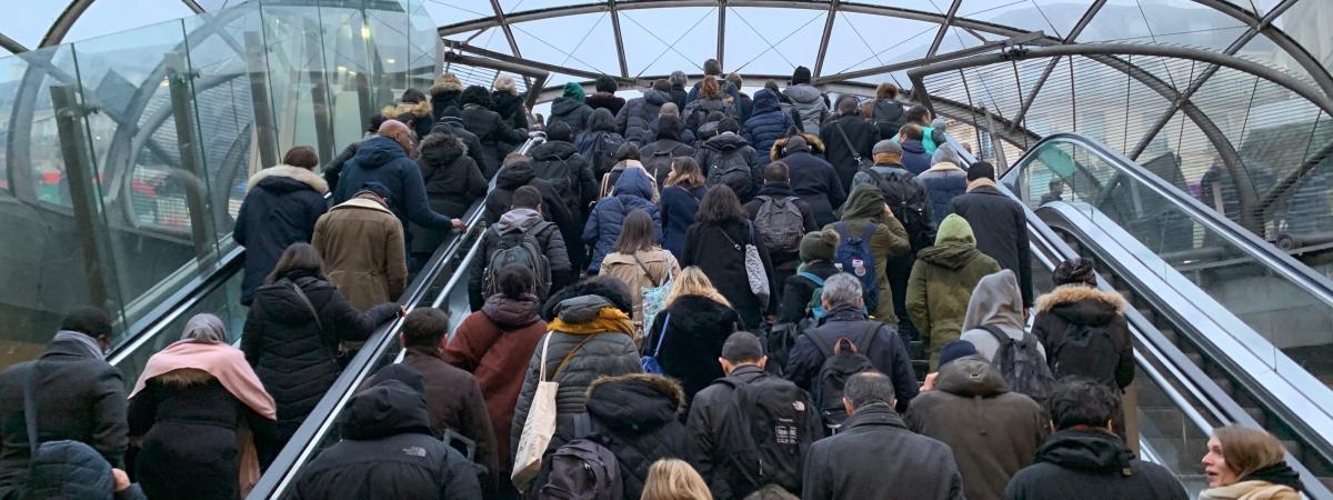 Grève des transports à Paris, le 9 décembre 2019.