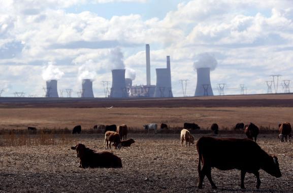 Centrale à charbon à Eskom, province deMpumalanga, dans l\'est de l\'Afrique du Sud. Photo prise le 20 mai 2018.