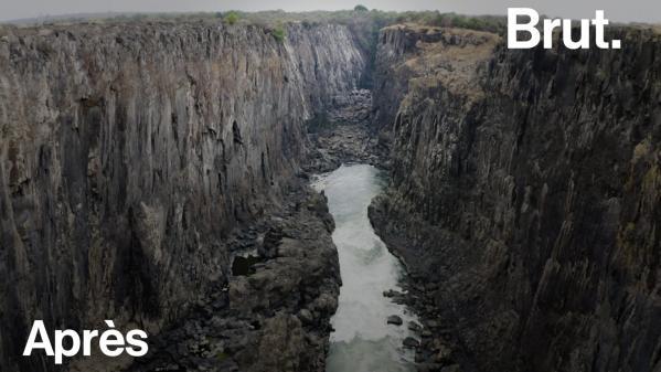 VIDEO. Réchauffement climatique : entrelaZambieet leZimbabwe, les chutes Victoria s'assèchent