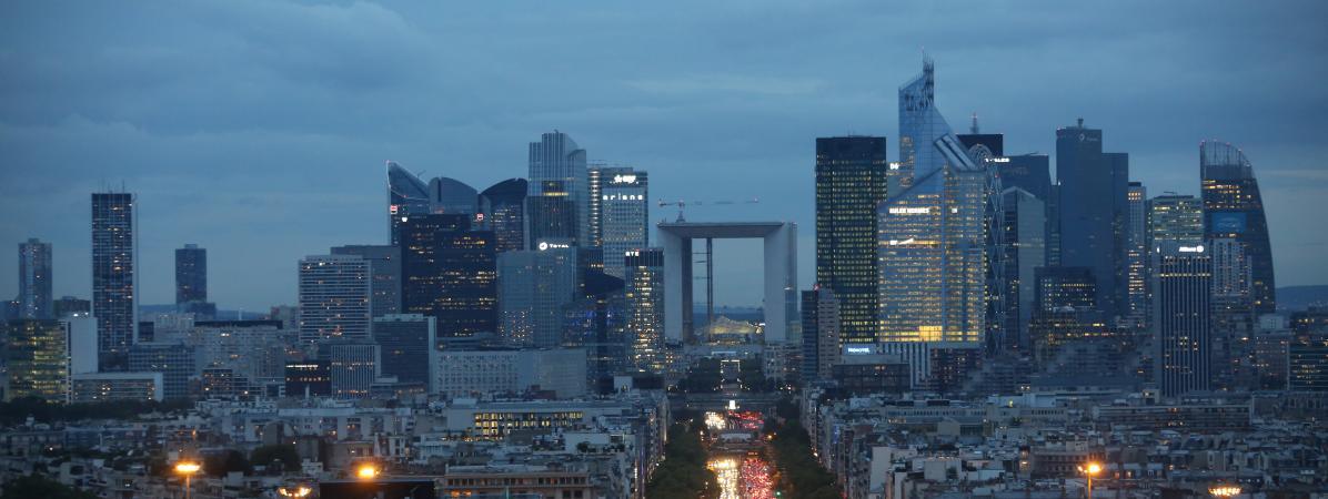 Le quartier d\'affaires de La Défense, près de Paris, le 15 septembre 2015.