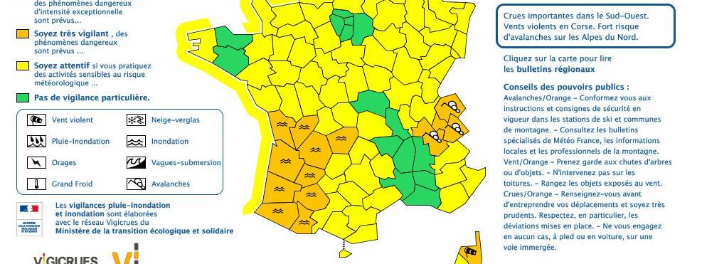 Intempéries : onze départements toujours en vigilance orange dans le Sud-Ouest