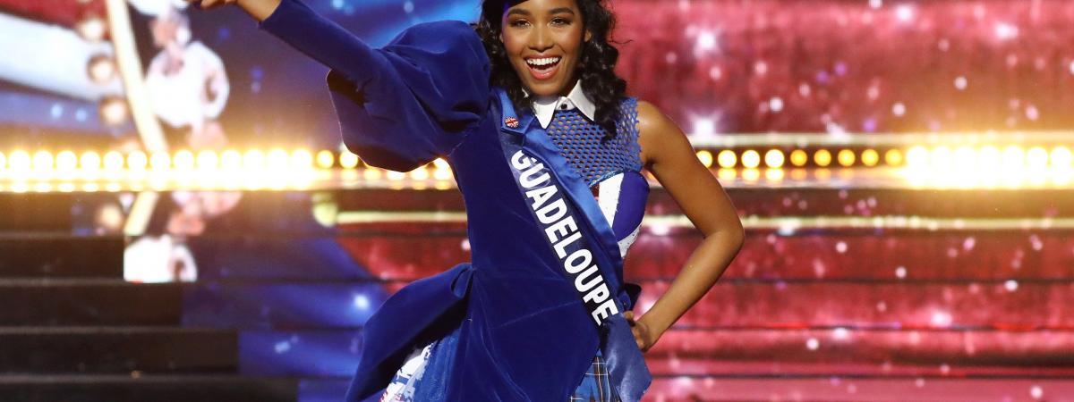 Miss Guadeloupe lors de l\'élection de Miss France 2020, le 14 décembre à Marseille.