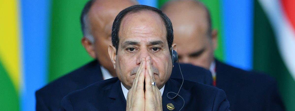 Le président égyptien Abdel Fattah al-Sissi au Forum économique du sommet Russie-Afrique de Sotchi, le 24 octobre 2019.