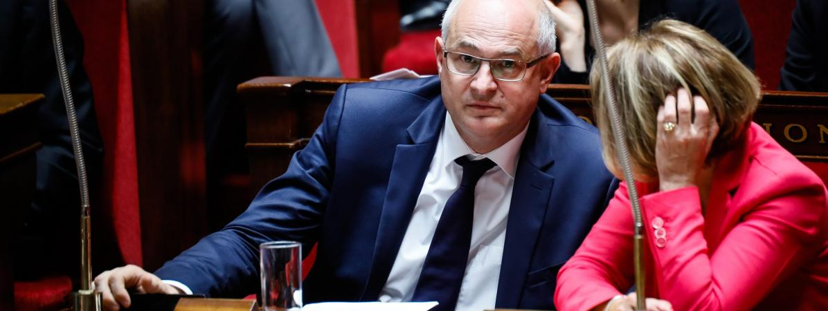 Laurent Pietraszewski, à l\'Assemblée nationale, le 1er août 2017.