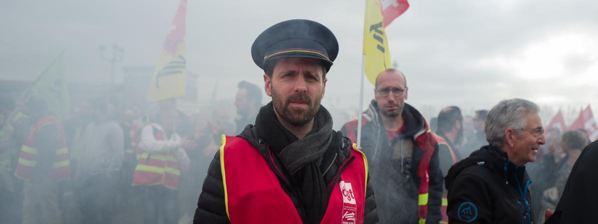 Des manifestants contre la réforme des retraites, le 17 décembre 2019, à Toulouse (Haute-Garonne).