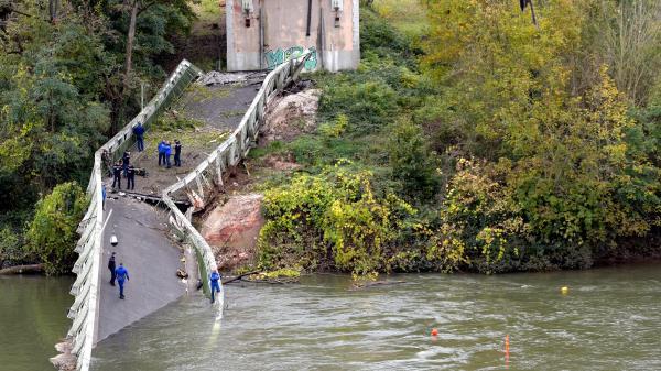 Effondrement du pont de Mirepoix-sur-Tarn: une information judiciaire a été ouverte pour homicides involontaires