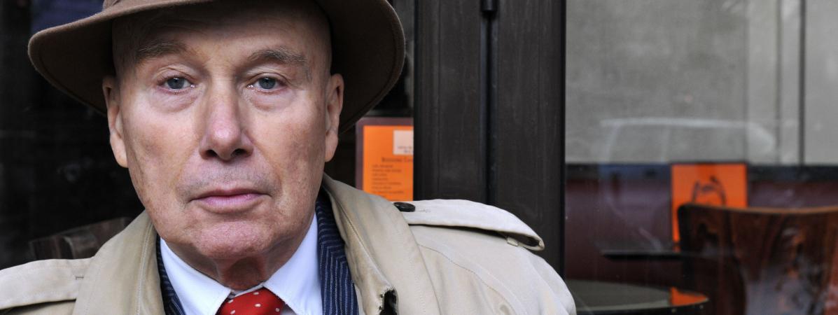 L\'écrivain Grabriel Matzneff, en janvier 2009 à Paris.