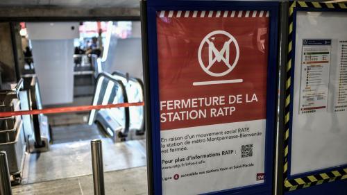Grève à la RATP : quinze lignes de métro ouvertes totalement ou partiellement vendredi, le RER toujours fortement perturbé