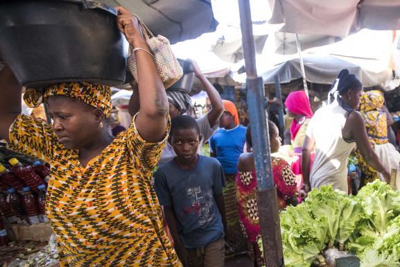 Le marché du Kermel à Dakar (Sénégal), le 14 septembre 2016