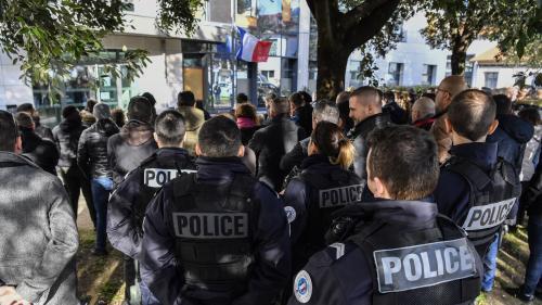 Lyon : l'hommage à Franck Labois, policier mort en service