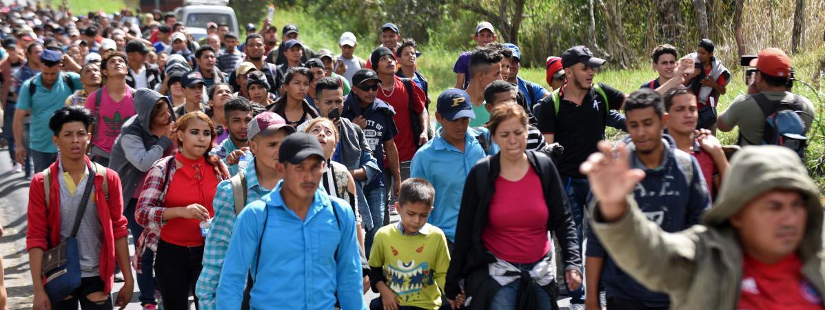Une imposante caravane de migrants s'est constituée en Amérique Centrale, direction les Etats-Unis