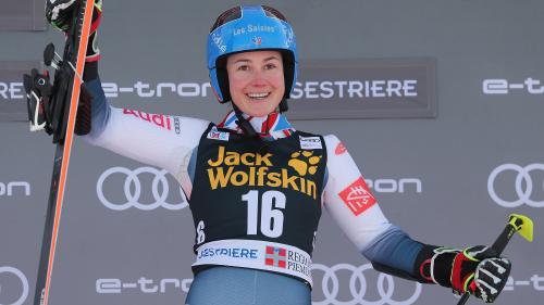 Ski alpin : la Française Clara Direz remporte le slalom parallèle de Sestrières, sa première victoire en Coupe du monde