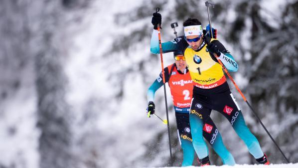 Biathlon : Martin Fourcade remporte la poursuite à Ruhpolding devant un autre Français, Quentin Fillon-Maillet