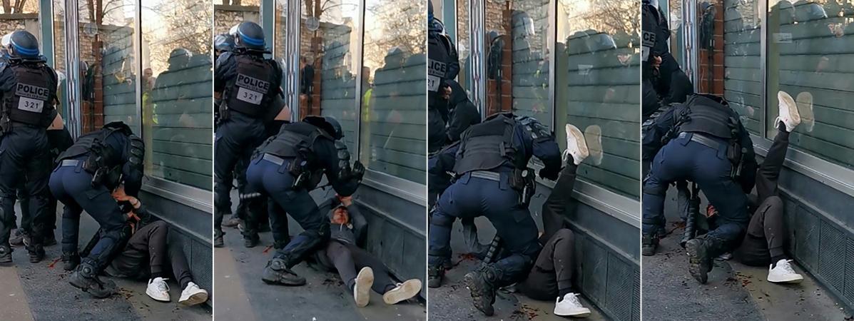 Manifestant frappé au sol à Paris : non, le sida ne se transmet pas en crachant de la salive et du sang au ...