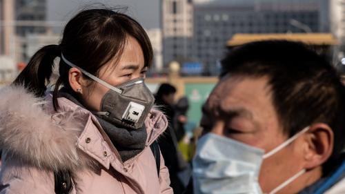 """""""Je pense avant tout à ma santé, j'ai annulé mon voyage"""": dans l'une des grandes gares de Pékin, le coronavirus inquiète"""