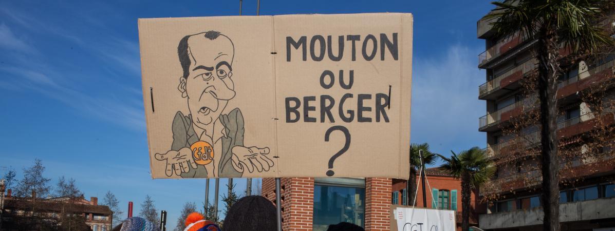 Manifestation contre la réforme des retraites, le 14 janvier 2020 à Montauban (Tarn-et-Garonne).