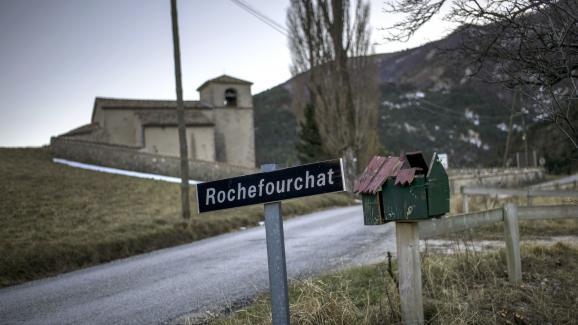 La commune de Rochefourchat, dans la Drôme, le 17 décembre 2013.