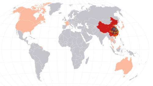 CARTE. Visualisez où se trouvent les cas de coronavirus 2019-nCoV dans le monde