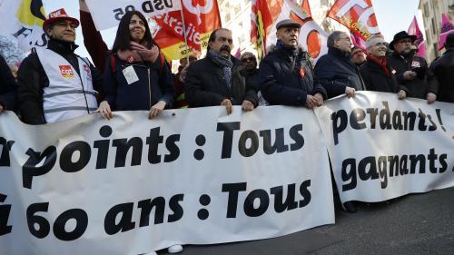 DIRECT. Réforme des retraites : la CGT revendique 130 000 manifestants à Paris