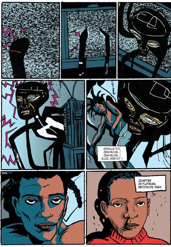 """Une des planches de \""""Basquiat\"""", la biographie dessinée de Julian Voloj et Soren Mosdal sur le peintre new-yorkais."""