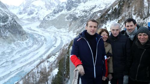 DIRECT. Réchauffement climatique : suivez le déplacement d'Emmanuel Macron sur la mer de Glace